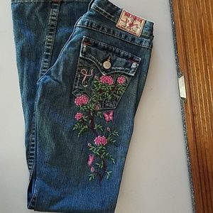 True Religion breast cancer embroidery